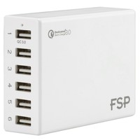 FSP Amport 62 6 ports USB 62W QC 3.0 White Quick Charger