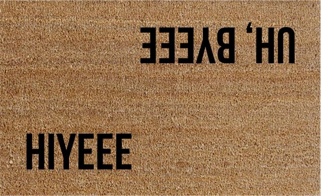 Natural Fibre Doormat - Hiyee Uh, Byeee