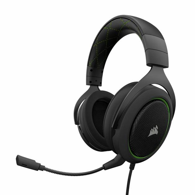 Corsair HS50 Stereo Gaming Headset (Green) for PC