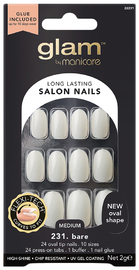 Glam by Manicare - Basic Oval Glue-On Nails (2g)