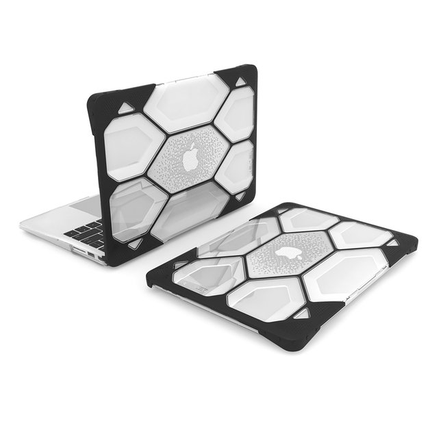 """iBenzer Hexpact Protective Case For Apple Macbook Air 13"""" Thunderbolt 2018 A1932 - Clear"""