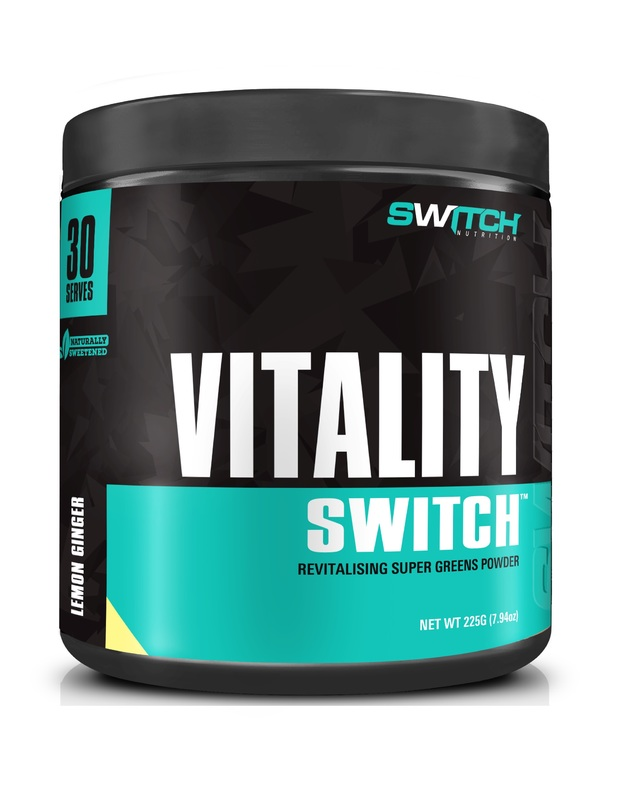 Vitality Switch - Revitalising Wholefood Green Juice - Lemon Ginger (30 Serves)