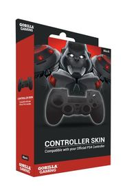 Gorilla Gaming PS4 Controller Skin Black for PS4