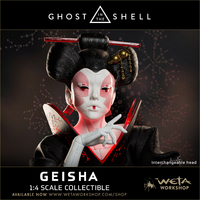 Ghost in the Shell: 1/4 Geisha - Replica Statue