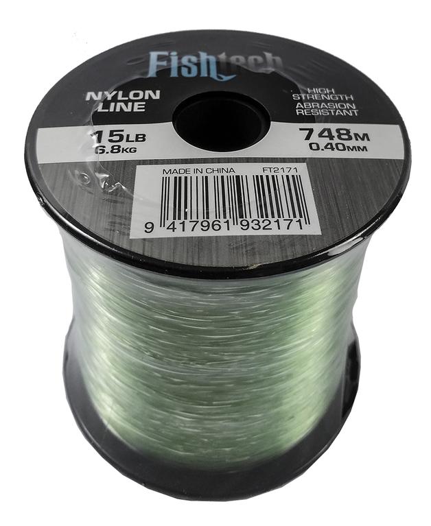 Fishtech 1/4 Pound Nylon Spool 15lb 748m