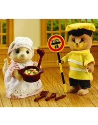 Sylvanian Families - Dinner Lady & Lollipop Man