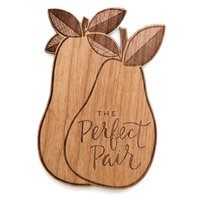 Cardtorial Wooden Card - Perfect Pair image