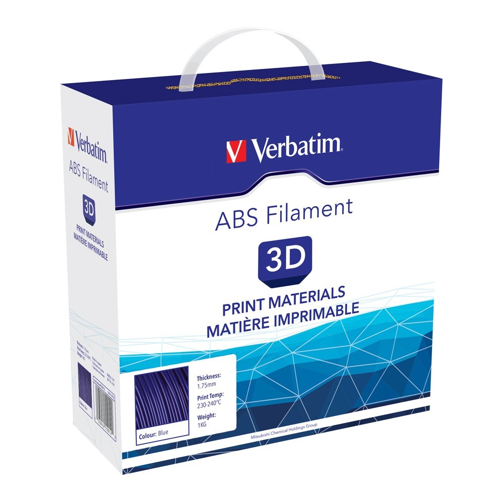 Verbatim 3D Printer ABS 1.75mm Filament - 1kg (Blue) image