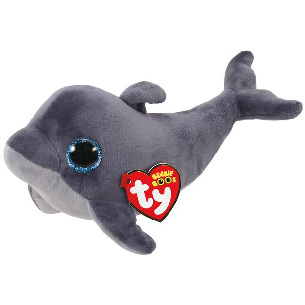 3cbc1022ddc Ty Beanie Boo  Grey Dolphin - Small Plush