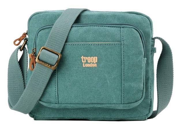 Troop London: Classic Zip Top Small Satchel - Turquoise