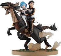 Re:ZERO: Rem & Subaru (Riding Patrasche) - PVC Diorama Figure