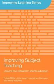 Improving Subject Teaching by John Leach image