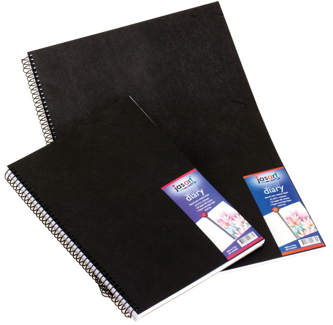 Jasart A5 60 Page Spiral Bound Visual Diary image