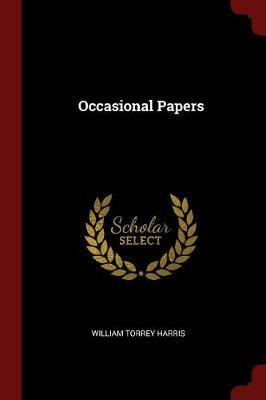 Occasional Papers by William Torrey Harris image