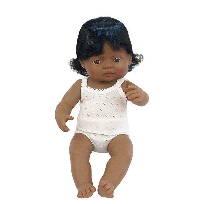 Miniland: Anatomically Correct Baby Doll - Latin American Girl (38cm) image