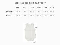 Babu: Merino Singlet Bodysuit - Burgundy (3-6m) image