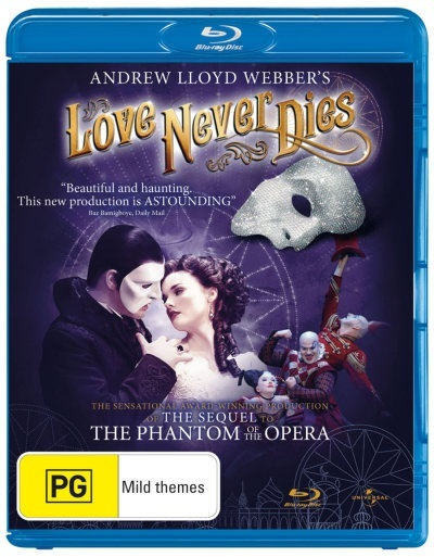 Love Never Dies on Blu-ray