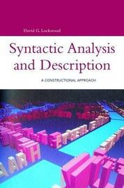 Syntactic Analysis and Description by David G. Lockwood