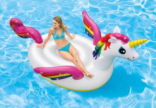 "Intex: Mega Unicorn Island - Inflatable Lounger (113"" x 76)"