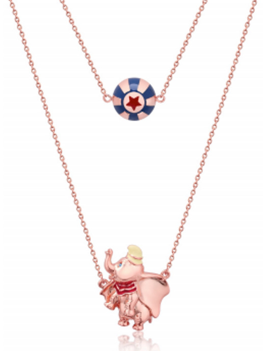 Couture Kingdom: Disney Dumbo Circus Ball Necklace - Rose Gold