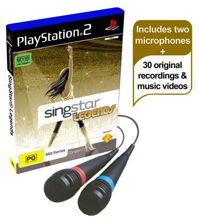 SingStar Legends with Microphones for PlayStation 2