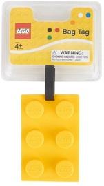 LEGO Stationery - Luggage Bag Tag Brick Shape (Yellow)