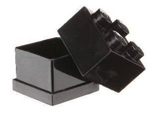LEGO: Mini Box 4 - Storage Brick (Black)