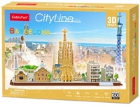 Cubic Fun: City Line 3D Puzzle - Barcelona
