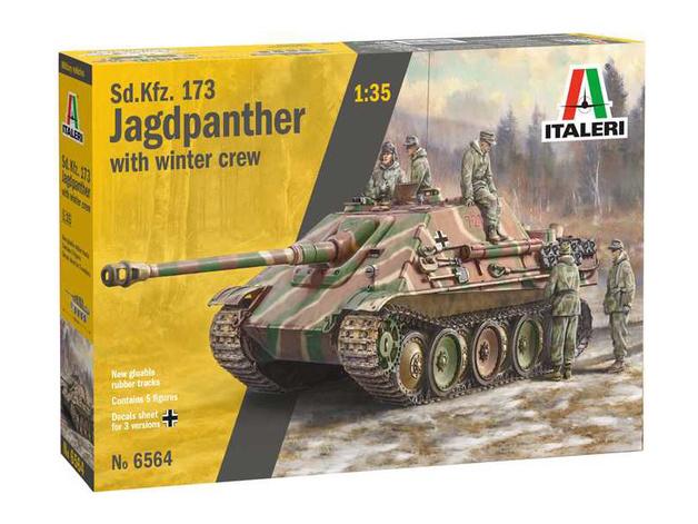 Italeri: 1/35 Kfz.173 Jagdpanther with crew - Model Kit