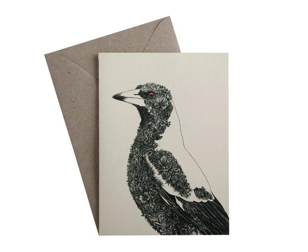 Maxwell & Williams: Marini Ferlazzo Birds Greeting Cards - Magpie