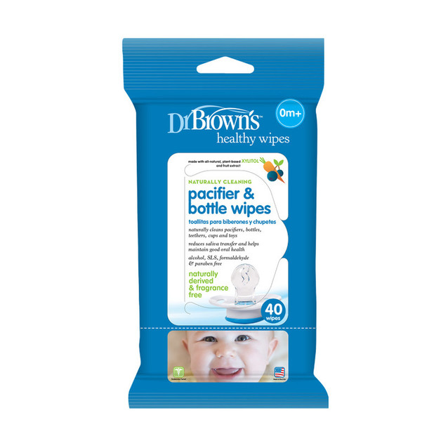 Dr Brown's: Pacifier & Bottle Wipes (40 Pack)