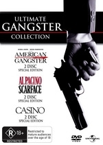 Ultimate Gangster Collection (American Gangster / Scarface / Casino) (6 Disc Box Set) on DVD