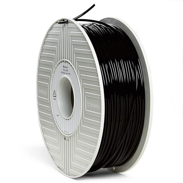 Verbatim 3D Printer PLA 3.00mm Filament - 1kg Reel (Black)
