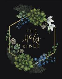 NIV, Artisan Collection Bible, Cloth over Board, Navy Floral, Designed Edges under Gilding, Red Letter Edition, Comfort Print by Zondervan