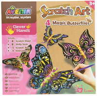 Avenir Scratch Art Kit - Magic Butterflies