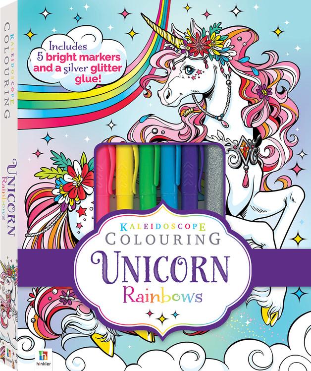 Kaleidoscope: Colouring Kit - Unicorn Rainbows