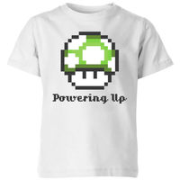 Nintendo Super Mario Powering Up T-Shirt Kids' T-Shirt - White - 11-12 Years image