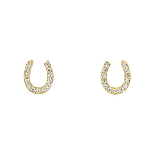 Short Story: Earring Horseshoe Diamante Gold
