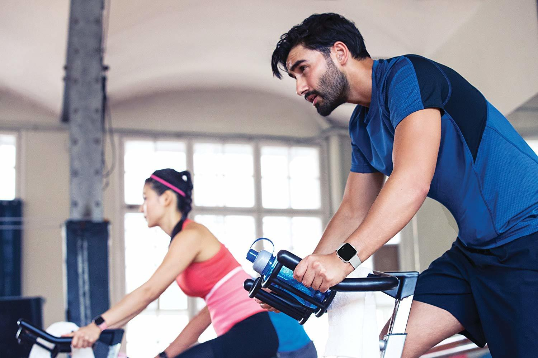 Fitbit Versa Smart Fitness Watch (Gray/Silver) image