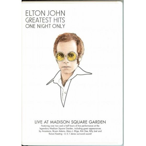 Elton John - Greatest Hits: One Night Only DVD on DVD image