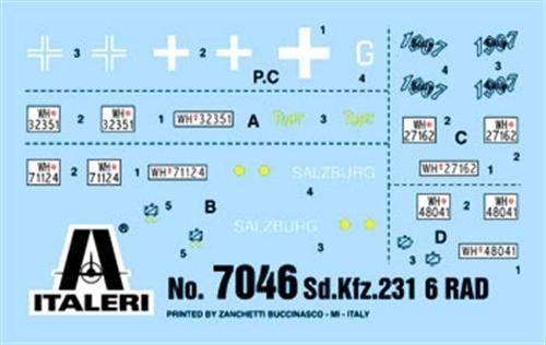 Italeri: 1/72 SD.KFZ. 231 6 Radio - Model Kit image