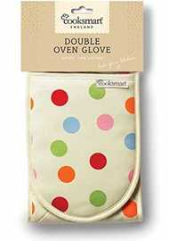 Spots Design Double Oven Gloves image