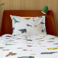 Snurk: Quilt Cover Set Paper Zoo - King Single image
