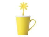 Doozie Bloom Mug with Lid (310ml) - Yellow