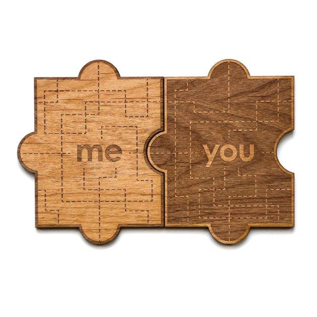 Cardtorial Wooden Card - You & Me