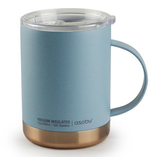 Asobu: Ultimate Insulated Coffee Mug (Baby Blue/Copper) image