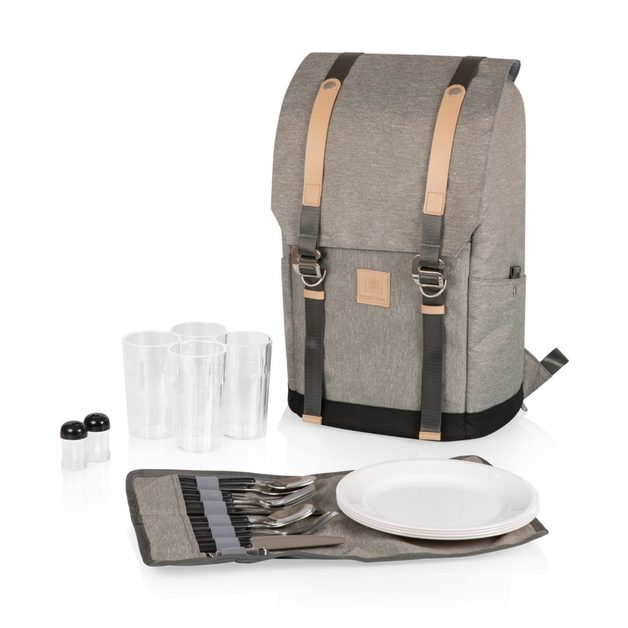Picnic Time: PT-Frontier Picnic Backpack (Heathered Gray)