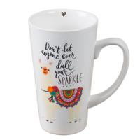 Natural Life: Latte Mug - Don't Let Anyone Dull Your Sparkle image