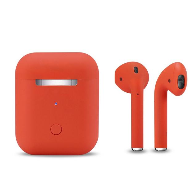 True Wireless Touch Key Bluetooth 5.0 Earphones - Red