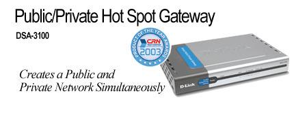 D-Link Public/Private Hot Spot Gateway